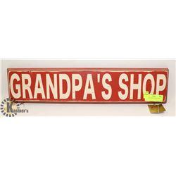 GRANDPAS SHOP WOODEN SIGN