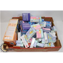 LARGE FLAT OF ASSORTED BABY PRODUCTS INCLUDING