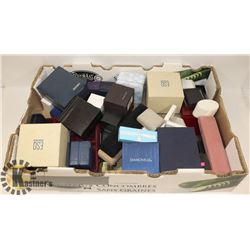 FLAT OF ASSORTED JEWELLERY AND WATCH BOXES