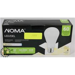 NEW CASE OF 4 NOMA LED LIGHT BULBS