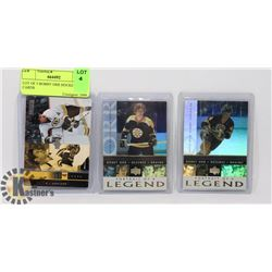 LOT OF 3 BOBBY ORR HOCKEY CARDS