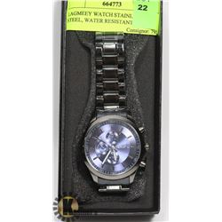 LAGMEEY WATCH STAINLESS STEEL, WATER RESISTANT