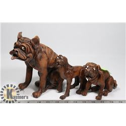 SET OF 3 FUNNY LOOKING DOGS.