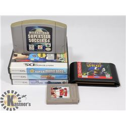 NINTENDO GAMES SMURFS , MARIO , SONIC AND MORE...