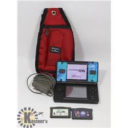 NINTENDO DS LITE WITH CASE , GAMES , CHARGER
