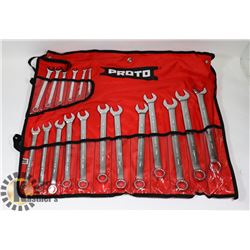 18PC 12PT METRIC WRENCH SET.