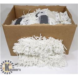 BOX OF AGF COTTON WASH MOP HEADS.