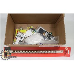 BOX OF ASSORTED INCL MOUSE TRAPS , SOCKET HOLDER