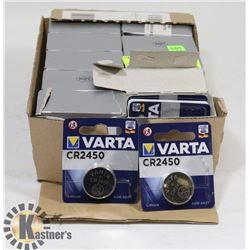 LOT OF VARTA CR2450 3V BATTERIES