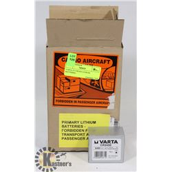 LOT OF VARTA 3V CR2450 LITHIUM BATTERIES -