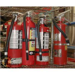 LOT OF 4 X 5LBS FIRE EXTINGUISHERS