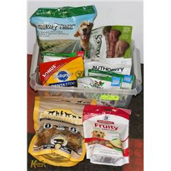 VARIETY OF DOG CHEWS, TREATS INCL GREENIES &