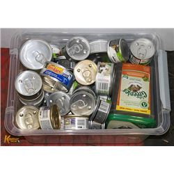 ASSORTED CANNED CAT FOOD & TREATS INCL BRANDS