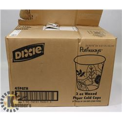 CASE OF DIXIE 3OZ PAPER CUPS