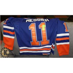 REEBOK OILERS JERSEY AUTHENTIC, SIZE 48, CAPTAIN