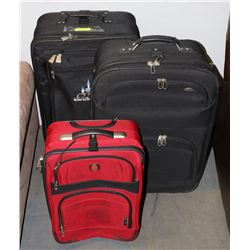 SET OF 2 LARGE SUITCASES & 1 CARRY ON