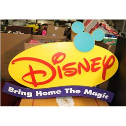 "LARGE DISNEY STORE DISPLAY 57"" X 36"""