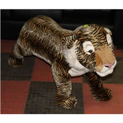 LARGE STAND UP STUFFED TIGER STEEL FRAME