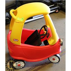 LITTLE TIKES COZY COUPE CAR.
