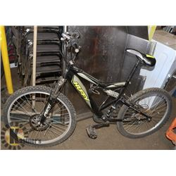 UNCLAIMED HUFFY BLACK AND GREY BICYCLE 18""