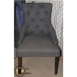 UNCLAIMED GREY FABRIC ARMCHAIR