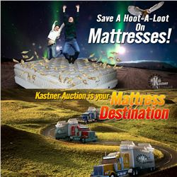 KASTNER AUCTION LIQUIDATES MATTRESSES 7 DAYS A WK