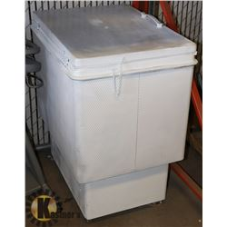 UNCLAIMED COOLER ON WHEELS AS IS