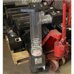 PALLET OF 7 COMPLETE BEAVER CANDY MACHINES WITH