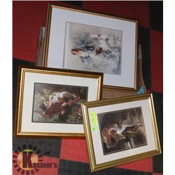 3 SHOWHOME FRAMED PICTURES