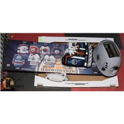 OILER PACKAGE INCL TOASTER, 2 LIGHT COVERS, WOOD