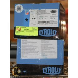 """2 BOXES OF 5"""" X 1/4"""" GRINDING DISCS"""