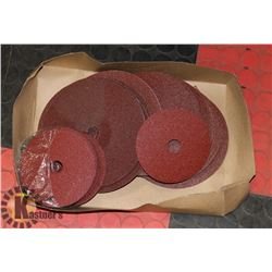 "FLAT OF 7"" 80 GRIT & 5"" GRIT FLAP DISCS-50 TOTAL"