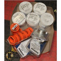 FLAT OF SOLDER, BRAZING PASTE FLUX AND THREAD TAPE