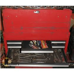 TOOL BOX WITH ASSORTED WRENCHES/RATCHETS AND