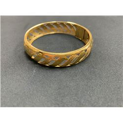 ONE 14K YELLOW GOLD VINTAGE STYLE BRACELET, 12.0 GRAMS, REPLACEMENT VALUE $1,750.00