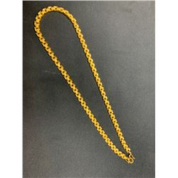 ONE 22-24K YELLOW GOLD FLEXIBLE LINK NECKLACE, 47.30GRAMS, REPLACEMENT VALUE $7,100.00