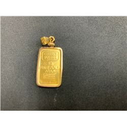 ONE 24K YELLOW GOLD & 14K YELLOW GOLD PENDANT, 6.70GRAMS, REPLACEMENT VALUE $600.00