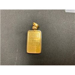 ONE 24K YELLOW GOLD & 14K YELLOW GOLD PENDANT, 12.20GRAMS, REPLACEMENT VALUE $1,130.00