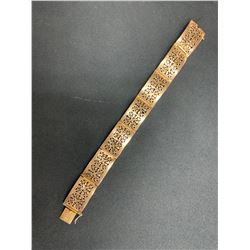 ONE 14K YELLOW GOLD RECTANGULAR LINK BRACELET, 9.10GRAMS, REPLACEMENT VALUE $1,250.00