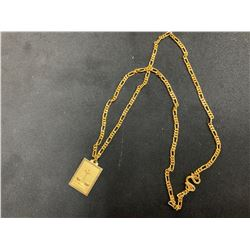 """22K CHAIN (19"""") WITH PENDANT RV $2,100.00"""