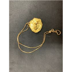 """18K YELLOW GOLD CHAIN (16"""") WITH YELLOW GOLD PENDANT RV $1,475.00"""