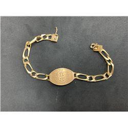 "14K YELLOW GOLD MEDIC ALERT BRACELET (9"") RV $1,975.00"
