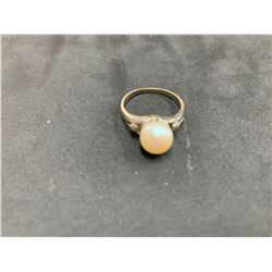 10K LADIES RING WITH PEARL
