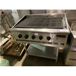 SATURN COMMERCIAL GAS GRILL WITH STAND AND DRIP TRAY