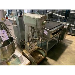 SYBO MODEL SM-30-NW FLOOR STANDING COMMERCIAL MIXER WITH DOUGH HOOK, MISSING BOWL