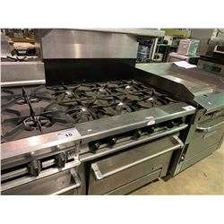 THERMATEC COMMERCIAL 6 BURNER GAS STOVE