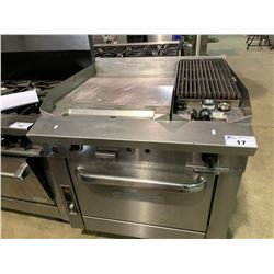 SOUTHBEND COMMERCIAL GRIDDLE AND SIDE GAS GRILL AND OVEN