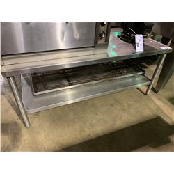"24""HX55""LX30""W STAINLESS STEEL EQUIPMENT TABLE"