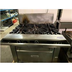 GARLAND 6 BURNER GAS STOVE WITH OVEN