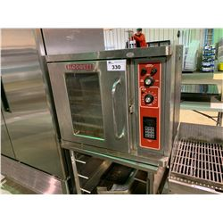 BLODGETT SINGLE DOOR STAINLESS OVEN WITH STAND AND BAKING TRAYS